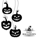 Halloween card with hang pumpkin Royalty Free Stock Image