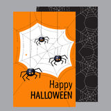 Halloween card. Happy Halloween. Flat design Vector illustration. Royalty Free Stock Photo