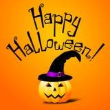 Halloween card - Happy Halloween stock illustration