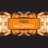 Halloween card. Happy Halloween. Vector illustration. Stock Photography
