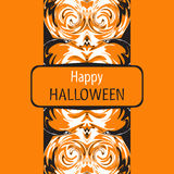 Halloween card. Happy Halloween. Vector illustration. Royalty Free Stock Photo
