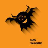 Halloween card with happy smile monsters Stock Images
