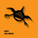 Halloween card with happy smile monsters Royalty Free Stock Photo