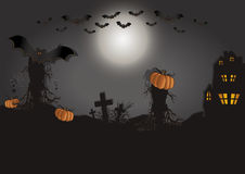 Halloween card horizontal Royalty Free Stock Photography