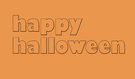 Halloween card logo Royalty Free Stock Images