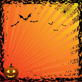 Halloween card - orange Royalty Free Stock Image