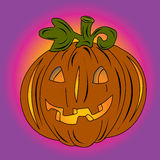 Halloween card with pumpkin Royalty Free Stock Images