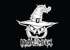 Halloween card with pumpkin Royalty Free Stock Photos