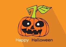 Halloween card with pumpkin Stock Images