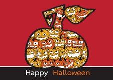 Halloween card with pumpkin Stock Photos