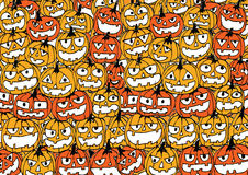 Halloween card with pumpkin Royalty Free Stock Image
