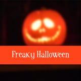 Halloween card with pumpkin lantern, blurred  Royalty Free Stock Photos