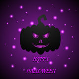 Halloween card with pumpkin.Vector eps 10. Stock Images