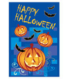 Halloween card with pumpkins and bats Royalty Free Stock Photography