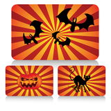 Halloween card set Royalty Free Stock Photo
