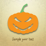 Halloween card with sly pumpkin Royalty Free Stock Photos