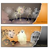 Halloween card with spooky things Royalty Free Stock Photography
