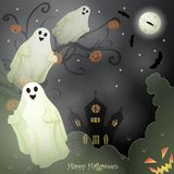 Halloween card with spooky things Royalty Free Stock Image