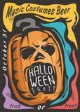 Halloween card template Stock Illustration