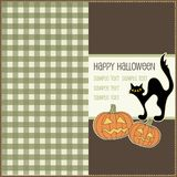 Halloween card, vector Stock Photos