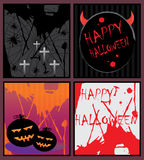 Halloween cards royalty free illustration