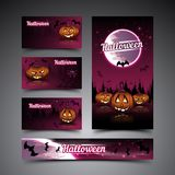 Halloween cards and banner Royalty Free Stock Photography