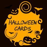Halloween Cards Means Trick Or Treat And Autumn Royalty Free Stock Image