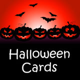 Halloween Cards Means Trick Or Treat And Celebration Stock Image