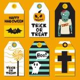 Halloween Cards set. Vector illustration Royalty Free Stock Photo