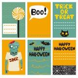 Halloween Cards set. Vector illustration Stock Photography