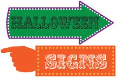 Halloween carnival sign template stock photography