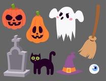 Halloween carnival symbols icons vector illustration Stock Photography