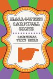 Halloween carnival template royalty free stock photo