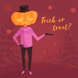 Halloween Cartão da doçura ou travessura Imagens de Stock Royalty Free