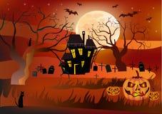 Halloween, cartolina. Fotografia Stock