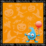 Halloween cartoon background. Stock Photography
