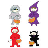 Halloween cartoon character hand drawn Stock Images