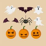 Halloween Cartoon Character Vector Template Royalty Free Stock Photography
