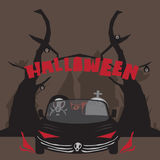 Halloween cartoon Royalty Free Stock Images