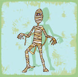 Halloween cartoon mummy, vector icon Royalty Free Stock Photos