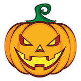 Halloween cartoon pumpkin jack lantern isolated on Stock Image