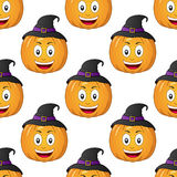 Halloween Cartoon Pumpkin Seamless Royalty Free Stock Photo