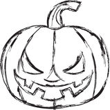 Halloween cartoon pumpkin. Vector illustration. Royalty Free Stock Photo