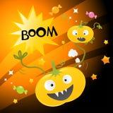 halloween cartoon pumpkins Stock Image