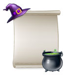 Halloween Cartoon Scroll Sign Stock Photography