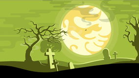 Halloween cartoon seamless looped animated background.