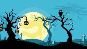 Halloween cartoon seamless looped animated background. stock video footage