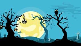 Halloween cartoon seamless looped animated background. stock video footage