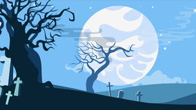 Halloween cartoon seamless looped animated background. Halloween cartoon seamless looped animated background with copyspase stock video