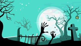 Halloween cartoon seamless looped animated background. stock video